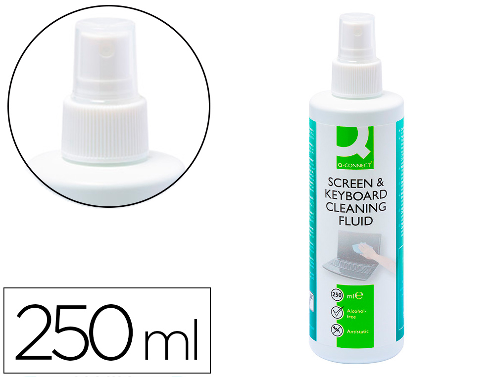 SPRAY Q-CONNECT LIMPIADOR DE PANTALLAS Y TECLADOS BOTE DE 250 ML
