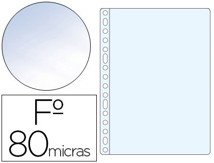FUNDA MULTITALADRO ESSELTE FOLIO POLIPROPILENO 80 MC CRISTAL CAJA DE 100 UNIDADES
