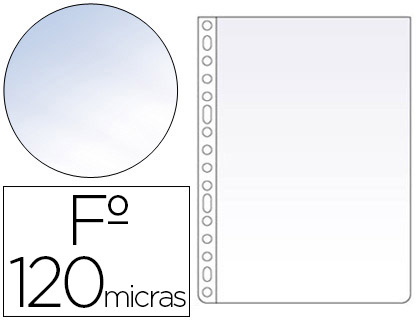 FUNDA MULTITALADRO ESSELTE FOLIO POLIPROPILENO 120 MC CRISTAL CAJA DE 100 UNIDADES